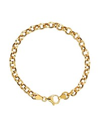Lord And Taylor 14K Yellow Gold Rolo Bracelet
