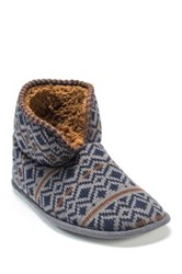 Muk Luks Mark Faux Fur Slipper Blue