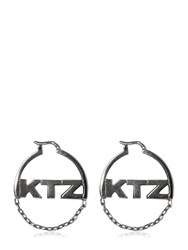 Ktz Logo And Chain Hoop Earrings