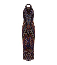 Balmain Embellished Halterneck Gown Female Multi
