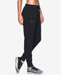 Under Armour French Terry Jogger Pants Black