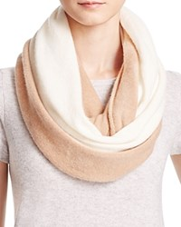 Bloomingdale's C By Cashmere Angelina Two Tone Loop Scarf Ivory Camel