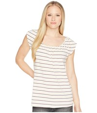Carve Designs Sanibel Tee Sparrow Sun Stripe T Shirt White