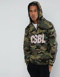 Cayler And Sons Hoodie In Camo With Half Zip Green