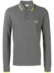Kenzo Mini Tiger Polo Shirt Grey