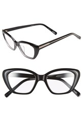 Women's Elizabeth And James 'Selma' 50Mm Optical Glasses Shiny Crystal Black