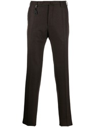 Incotex Colour Block Tailored Trousers Brown