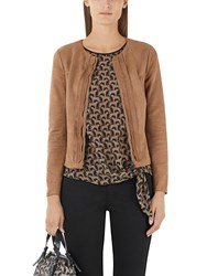 Marc Cain Faux Suede Jacket Brown