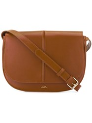 A.P.C. Saddle Bag Women Leather One Size Brown