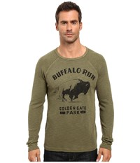 Lucky Brand Buffalo Run Graphic Tee Burnt Olive Men's T Shirt