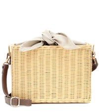 Kayu Reece Wicker Shoulder Bag Yellow