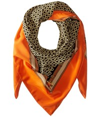 Michael Michael Kors Bridle Square Scarf Orange Navy Khaki Scarves