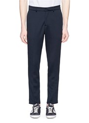 The Editor Stripe Outseam Jogging Pants Blue