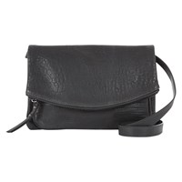 Mint Velvet Leather Edith Across Body Bag Charcoal