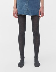 Hansel From Basel Rib Wool Tights Grey