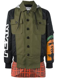Moschino Runway Hybrid Hooded Jacket Green