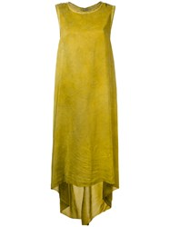 Isaac Sellam Experience Longline Dress Women Silk 36 Green