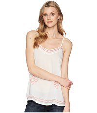 Roper 1623 White Rayon Tank With Embroidery White Clothing