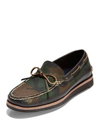 Cole Haan Pinch Rugged Camp Moc Camo Boat Shoes Multi