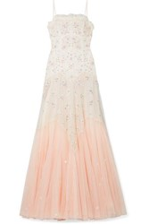 Needle And Thread Pearl Rose Embellished Embroidered Tulle Gown Pink