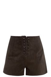 Alexa Chung For Ag Jeans Lace Up Shorts