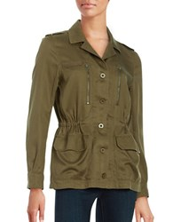 French Connection Button Front Utility Jacket Green