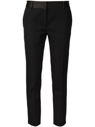 Victoria Beckham Cropped Suit Trousers Black