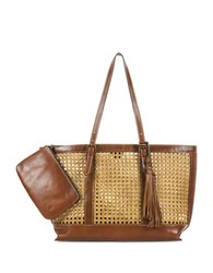 Patricia Nash Nice Leather Tote Natural