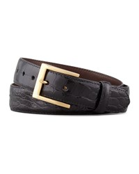 W.Kleinberg Glazed Alligator Belt Black