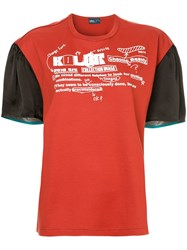 Kolor Two Tone T Shirt Red