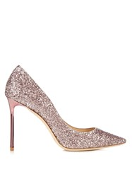 Jimmy Choo Romy 100Mm Glitter Pumps Pink