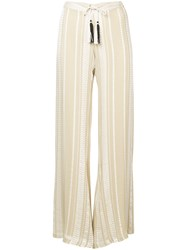 Zeus Dione Alcestes Palazzo Pants Nude And Neutrals