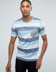 Only And Sons T Shirt With Pocket Stripe Navy