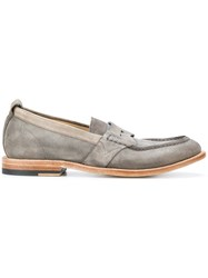 Sartori Gold Classic Casual Loafers Calf Suede Leather Rubber Grey