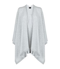 William Sharp Gradient Crystal Cashmere Cape Female Dark Grey