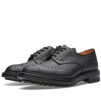 Trickers Tricker's Commando Sole Ilkley Derby Brogue Black Zug Grain