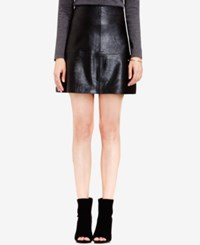 Vince Camuto Faux Leather A Line Skirt Rich Black