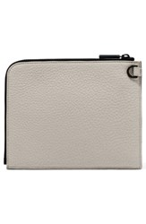 Dagne Dover Small Elle Leather Clutch Ivory Bone Onyx