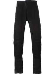 Lost And Found Patch Detail Trousers Grey