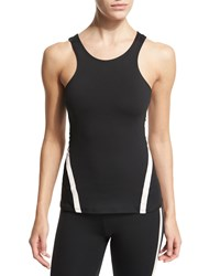 Heroine Sport Exerciser Halter Tank Top Black Blush Size L Black W Blush