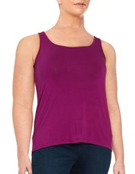 Lord And Taylor Plus Iconic Slimming Tank Cosmos Purple