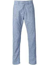 Biro Pinstripe Trousers Blue