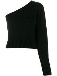 Federica Tosi One Shoulder Sweater Black