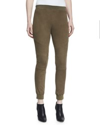 Atm Anthony Thomas Melillo Stretch Suede Track Pants Army