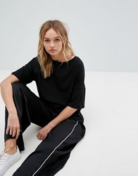 Pull And Bear Oversized Tee Black