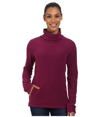 Mountain Hardwear Microchill Cowl Neck Pullover Dark Raspberry Women's Long Sleeve Pullover Red