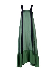 Max And Co. Long Dresses Green