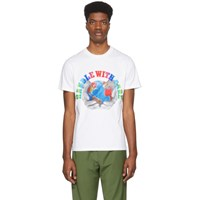 Stella Mccartney White We Are The Weather Handle With Care T Shirt