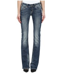 Rock And Roll Cowgirl Rival Low Rise In Dark Vintage W6 4488 Dark Vintage Women's Jeans Navy