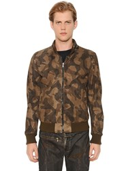 Matchless London Reversible Suede Camo Bomber Jacket